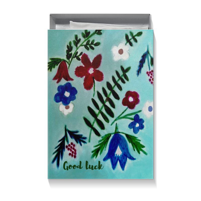 Коробка для футболок Printio Цветы на голубом коробка для футболок printio цветы