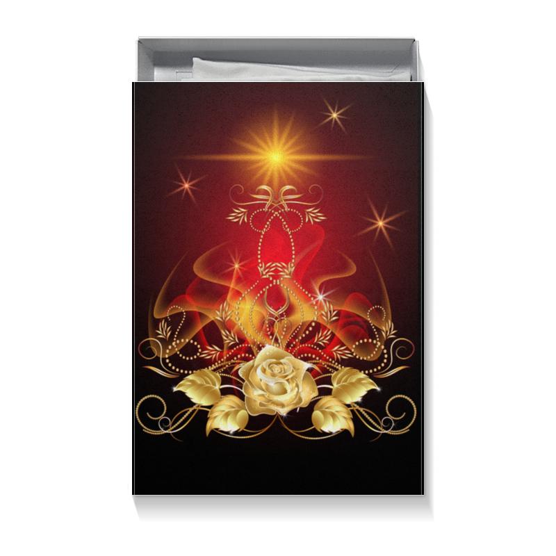 Подарочная коробка большая (пенал) Printio Золотая роза