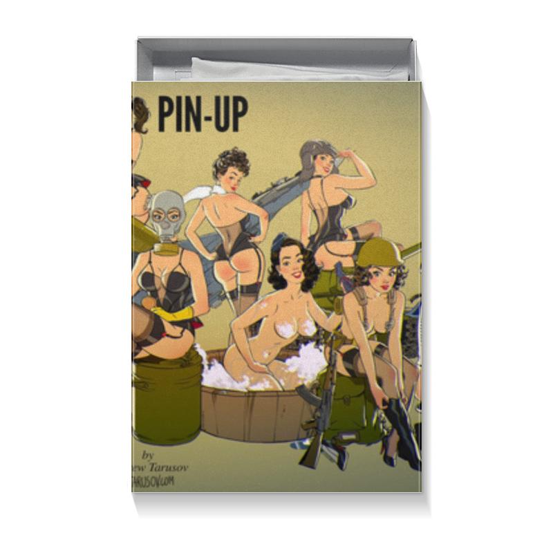 Коробка для футболок Printio Прикольный для мужчины (пинап андрея тарусова) торт printio прикольный на 23 февраля пинап андрея тарусова