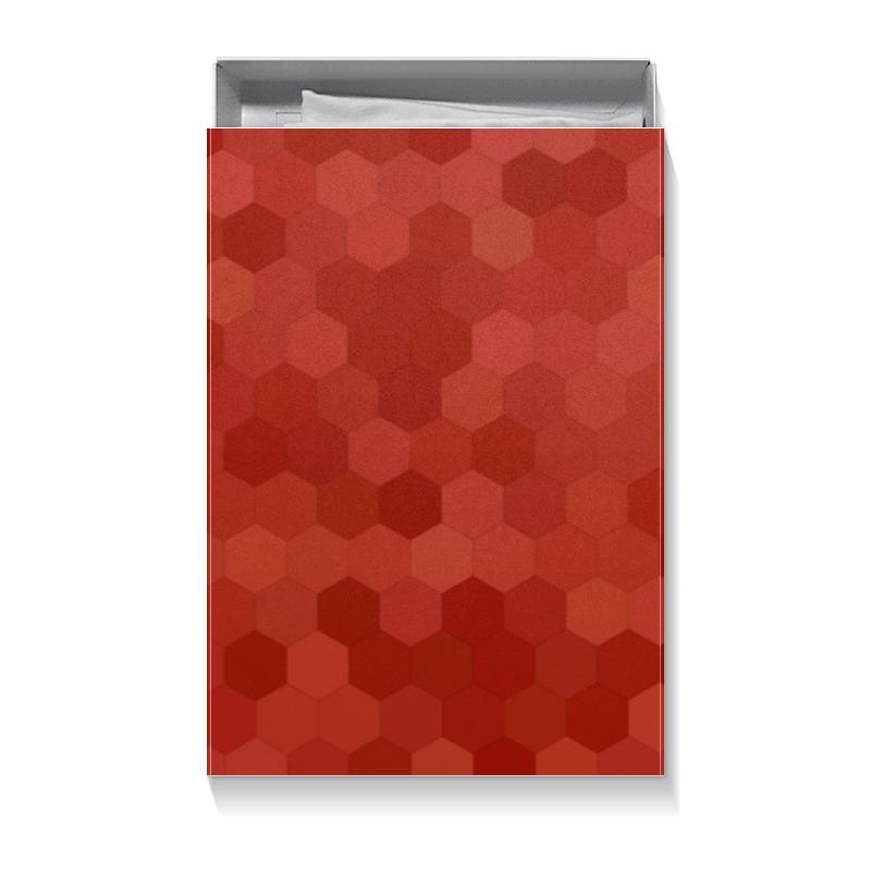 Коробка для футболок Printio Красная абстракция