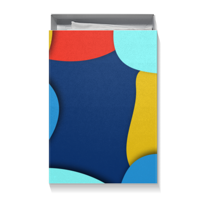 Коробка для футболок Printio Разноцветная абстракция коробка для футболок printio красная абстракция