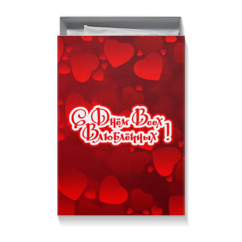Подарочная коробка большая (пенал) Printio С днём всех влюблённых!!! чартер для всех