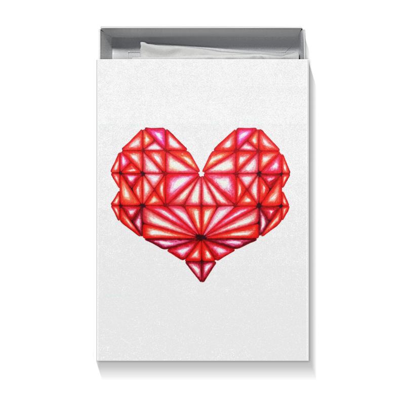 Подарочная коробка большая (пенал) Printio Сердце геометрическое оттенки красного подарочная коробка большая пенал printio сердце