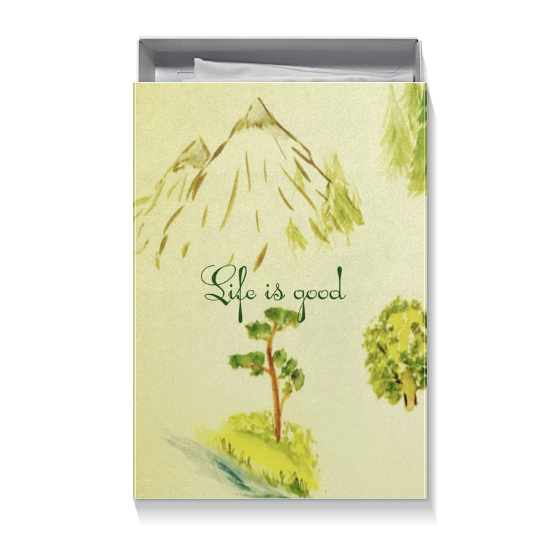 Коробка для футболок Printio Горы, сосны и цветы коробка для футболок printio горы сосны и цветы