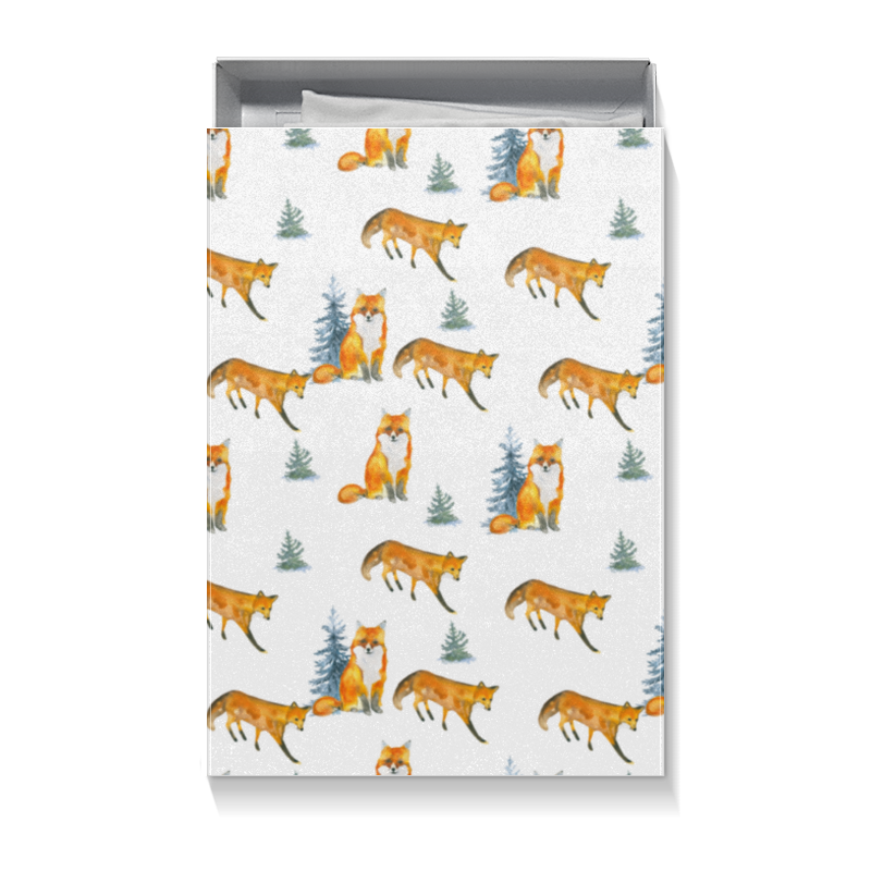 Коробка для футболок Printio Лисы в лесу шапочка лисы