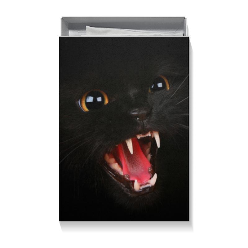 Коробка для футболок Printio Черная кошка коробка для футболок printio бетмен