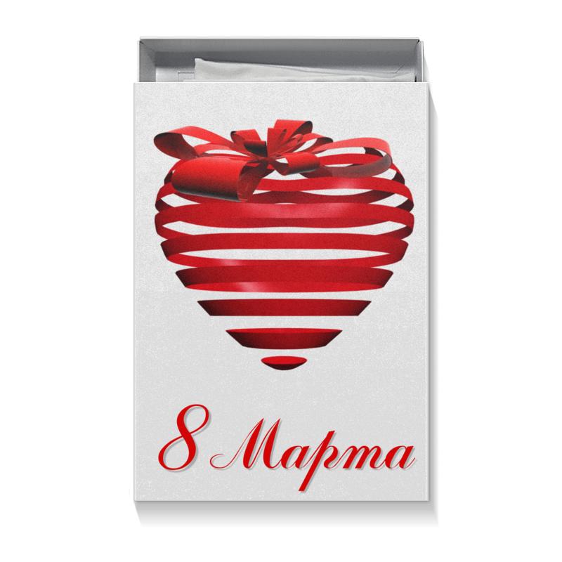 Коробка для футболок Printio Сердце на 8 марта шоколадка к 8 марта