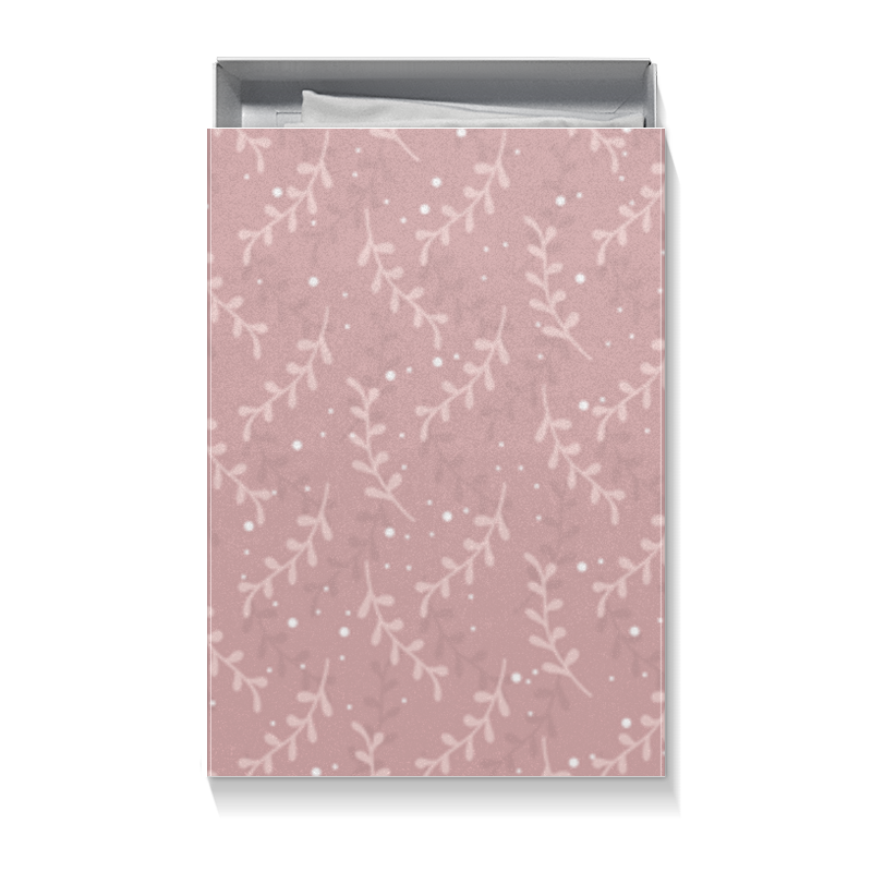 Коробка для футболок Printio Подарочная упаковка с нежным розовым рисунком каши nestle молочная рисовая каша с морковью и абрикосом с 5 мес 250 г