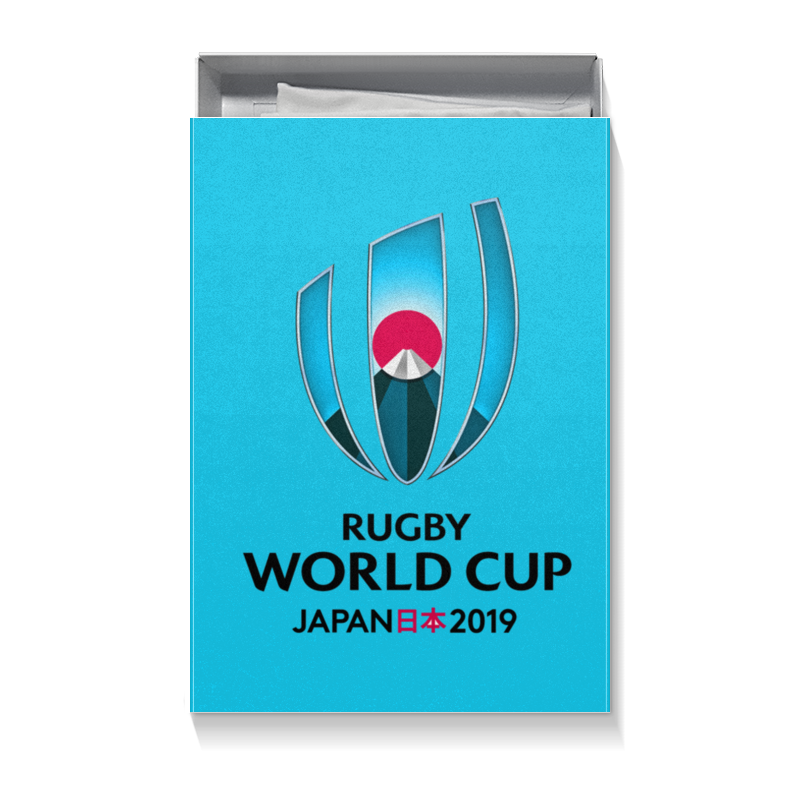 Коробка для футболок Printio Кубок мира по регби в японии чемпионат мира по регби 2019 африка 1 победитель утешительного турнира