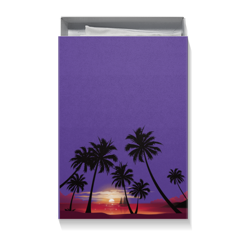 Коробка для футболок Printio Острова в океане вокруг золотого острова 2018 07 18t19 00