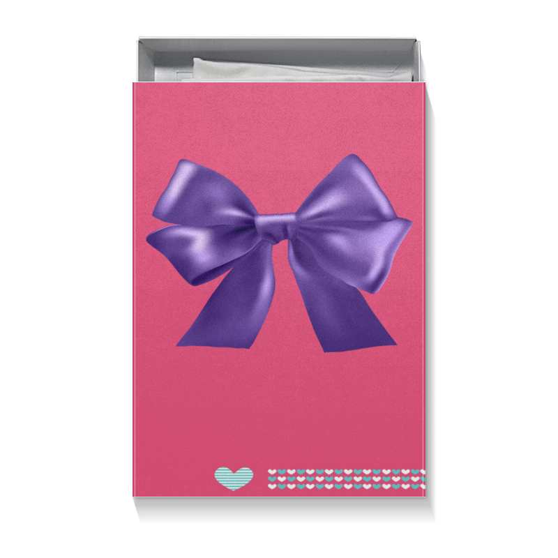 Коробка для футболок Printio Бантик волшебница восхищение шоколад молочный с орехами 90 г