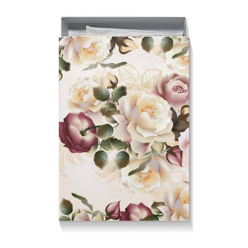 Коробка для футболок Printio Розовые розы шляпная коробка grand розы freedom blvck