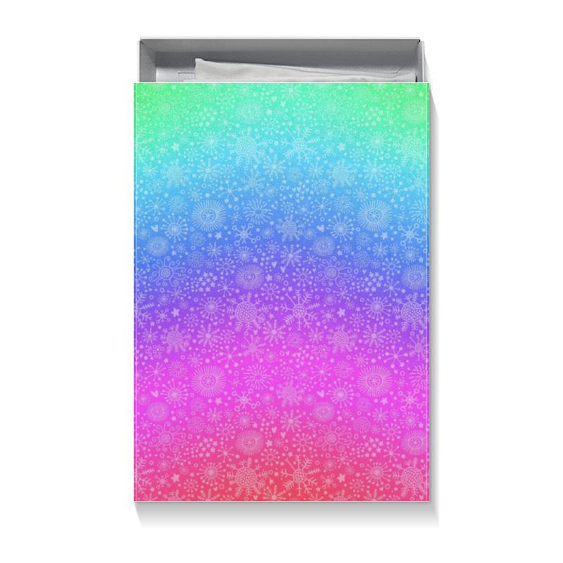 Коробка для футболок Printio Радужный снег конфеты bifrut радужный на сорбите со стевией 250г