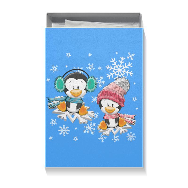 Коробка для футболок Printio Пингвин зимой подарочная коробка большая пенал printio пингвин зимой