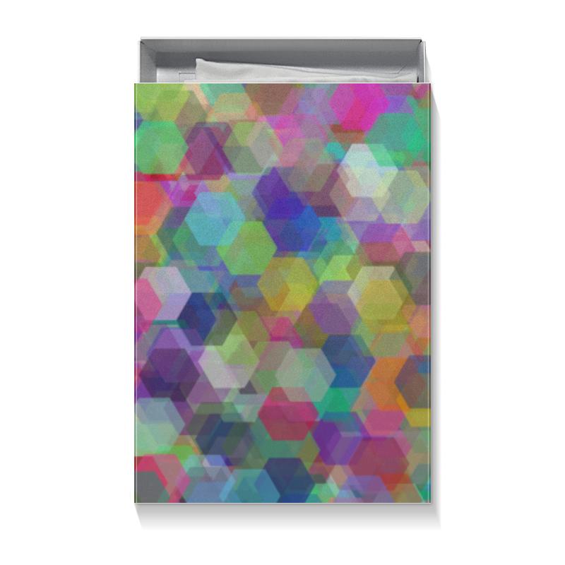 Коробка для футболок Printio Разноцветные кристаллы (орнамент)