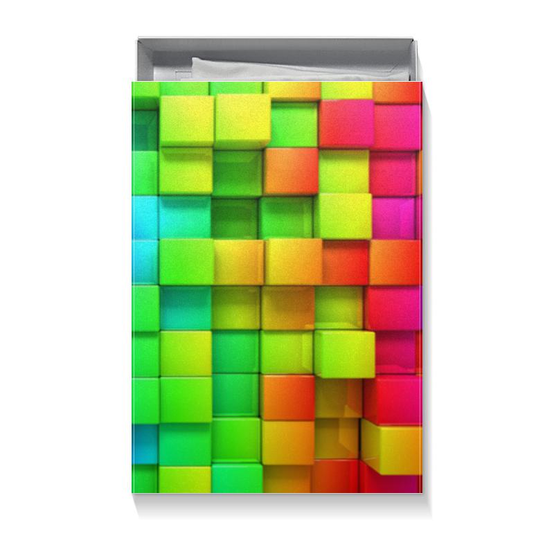 Коробка для футболок Printio Кубики кубики мди