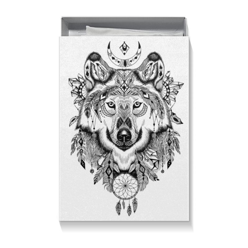 Коробка для футболок Printio Тотем. волк