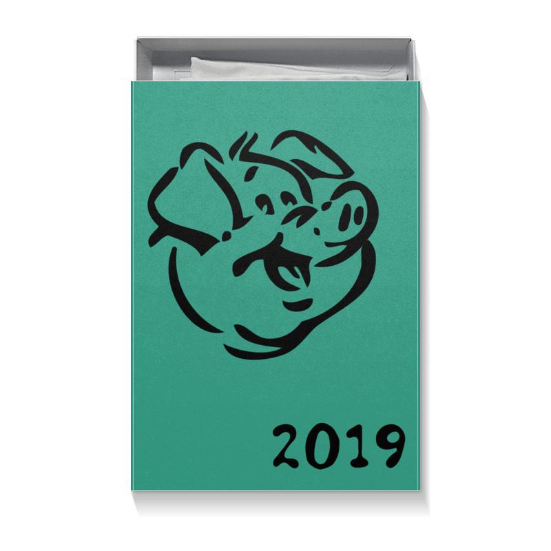 Коробка для футболок Printio Год свиньи 2019 календарь 2019 г настольный 25х16 год свиньи