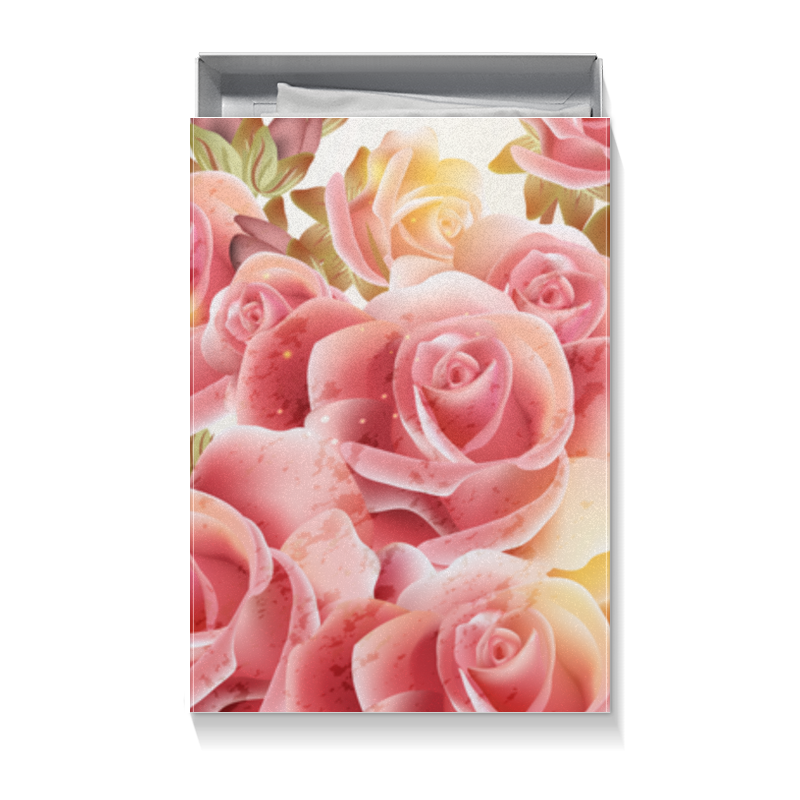 Коробка для футболок Printio Букет роз ип баскаков павел владимирович живопись на холсте 079 cg букет роз 40 50