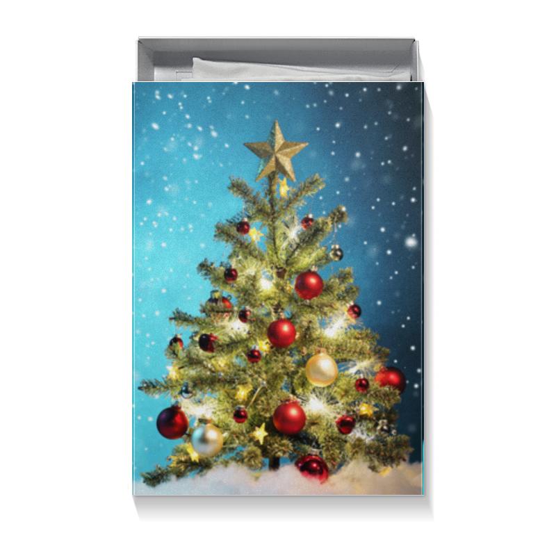 Коробка для футболок Printio Новый год бриз app носовых платков новый жесткий слой чистого 4 12 tissue mini kit без запаха