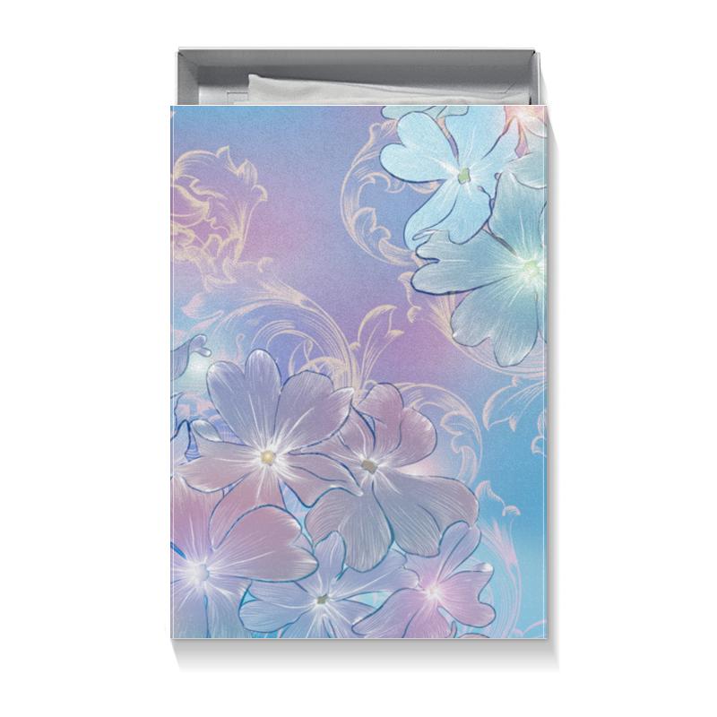 Коробка для футболок Printio Нежные цветы подарочная коробка малая пенал printio нежные цветы