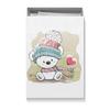 "Коробка для футболок ""Медвежонок"" - юмор, зима, рисунок, мультяшка, медвежонок"