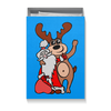"""Коробка для футболок """"Дед мороз с оленем"""" - праздник, новый год, радость, дед мороз, олень"""