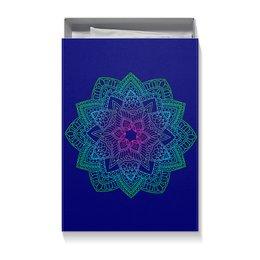 """Коробка для футболок """"Мандала на темно-синем"""" - праздник, орнамент, подарок, мандала, мехенди"""