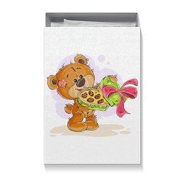 """Коробка для футболок """"С Днём Рождения!"""" - сердце, конфеты, подарок, день рождения, медвежонок"""