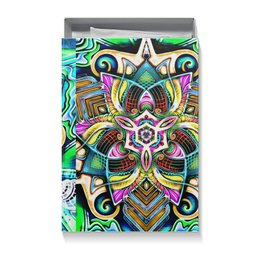 "Коробка для футболок ""Mandala HD 4"" - узор, ретро, классика, этно, симметрия"
