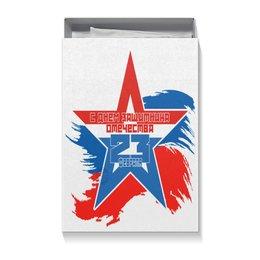 "Коробка для футболок ""23 февраля"" - праздник, 23 февраля, подарочная упаковка"