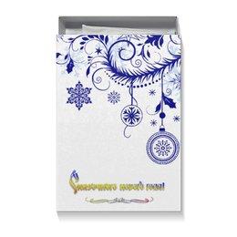 """Коробка для футболок """"Сказочного нового года!"""" - подарок, торжество, ёлка, магия, украшения"""