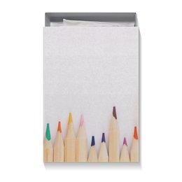 "Коробка для футболок ""Карандаши"" - осень, подарок, карандаши, цветные карандаши, подарочная упаковка"