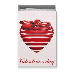 """Коробка для футболок """"На 14 февраля"""" - сердце, день святого валентина, 14 февраля, ко дню влюбленных, valentine's day"""