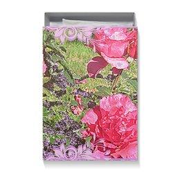 """Коробка для футболок """"Цветник."""" - цветы, роза, радость, розы, цветник"""