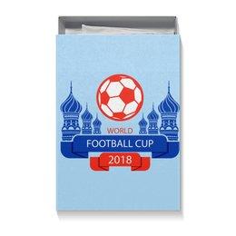 """Коробка для футболок """"Футбол"""" - футбол, спорт, мяч, 2018"""