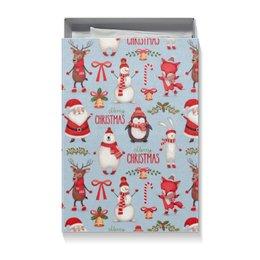 """Коробка для футболок """"Новый Год"""" - снеговик"""