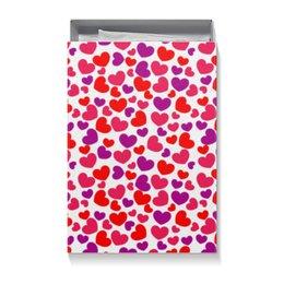 """Коробка для футболок """"Сердца"""" - сердца, день св валентина"""