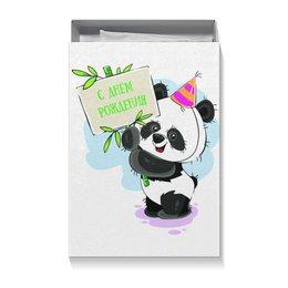 """Коробка для футболок """"С днём рождения!"""" - панда, улыбка, день рождения, игрушка, подарочный"""