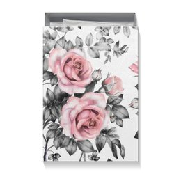 """Подарочная коробка большая (пенал) """"Цветы"""" - цветы, розы"""