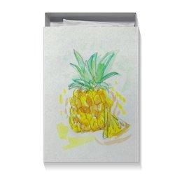 """Коробка для футболок """"Ананас"""" - лето, фрукты, ананас, сочный"""