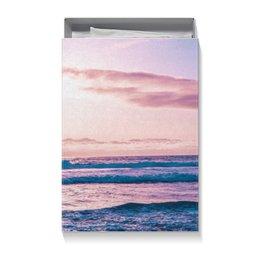 """Коробка для футболок """"Summer time!"""" - солнце, море, подарок, океан, подарочная упаковка"""