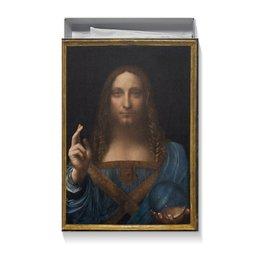 """Коробка для футболок """"Спаситель мира Леонардо да Винчи"""" - арт, картина, живопись, леонардо да винчи, спаситель мира"""