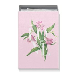 "Коробка для футболок ""With love"" - pink, любовь, watercolor flowers, цветы, акварель"