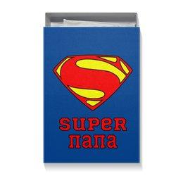 "Коробка для футболок ""Супер Папа"" - папа, супермен, комиксы"