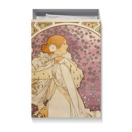 """Коробка для футболок """"Картина А.Мухи"""" - девушка, 8 марта, подарок, женщине, альфонс муха"""