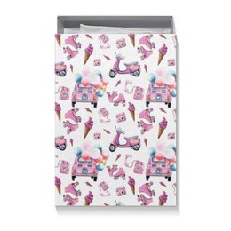"Коробка для футболок ""PinUp Box"" - машина, пинап, розовый, мопед, ролики"
