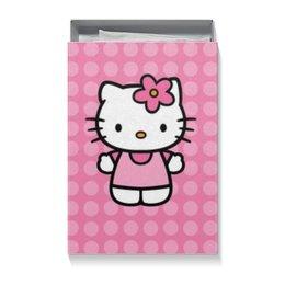 """Подарочная коробка большая (пенал) """"Kitty в горошек"""" - hello kitty, для детей, мультфильм, мультик, розовый"""