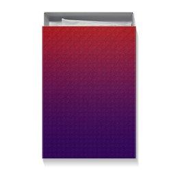 """Коробка для футболок """"Цветные волны"""" - узор, волна, кружки, волны, фиолетовая"""