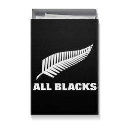 """Коробка для футболок """"All Blacks"""" - спорт, регби, новая зеландия регби"""